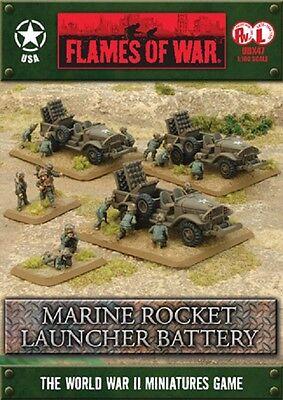 Spiel United States Marine (Flames of War United States Marine Rocket Launcher Battery UBX47 Brand New)