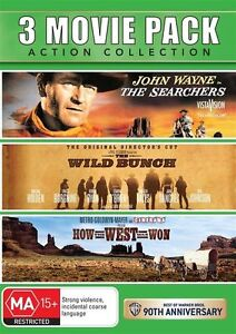 How the West Was Won / The Searchers / The Wild Bunch NEW R4 DVD
