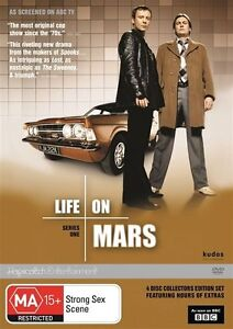 Life-On-Mars-T-V-Series-1-one-DVD-2012-4-Disc-Set-Film-Brunswick-Melbourne
