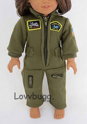 "Lovvbugg Pilot Flight Jumpsuit Costume Clothes for 18"" American Girl Doll Clothes"
