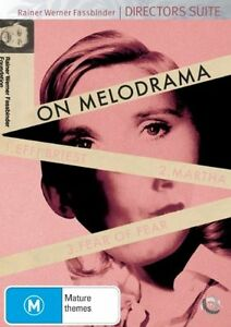 Fassbinder On Melodrama (DVD, 2008, 3-Disc Set)-REGION 4-Brand new-Free postage