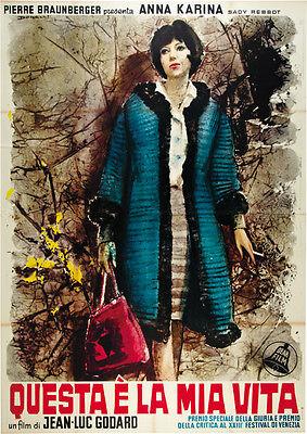 Vivre sa vie: Film en douze tableaux (1962) Jean-luc Godard movie poster print 2