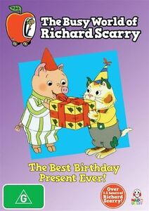 The Busy World of Richard Scarry Best Birthday Present - NewSealed ss R4 DVD