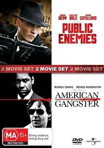 2 disc, PUBLIC ENEMIES / AMERICAN GANGSTER. Region 4, like new.