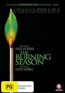 The Burning Season NARRATED BY HUGH JACKMAN...R4. FREE POST  NEW & SEALED dvd613