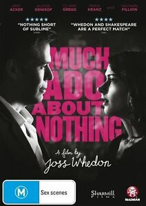 Joss Whedon's Much Ado About Nothing NEW R4 DVD