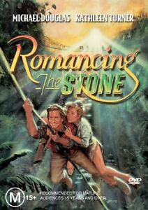 ROMANCING-THE-STONE-DVD-Michael-Douglas-Kathleen-Turner-ACTION-COMEDY-Sealed-R4