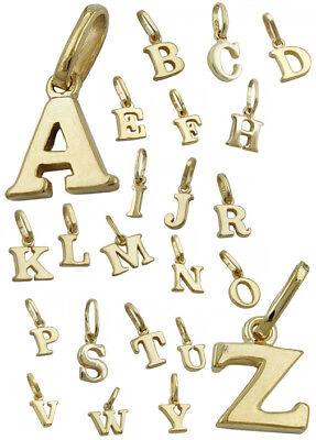 Gold 14 (Buchstabe wählbar A - Z Schmuck Anhänger Echt Gold 585 14 Kt Gelbgold Buchstaben)