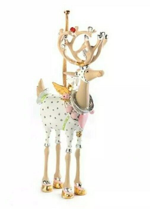 New Patience Brewster Moonbeam CUPID Reindeer LARGE Ornament Dash Away