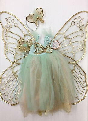 Pottery Barn Kids Butterfly Fairy Halloween Costume Mint 7-8 Years #3003