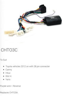 Steering Wheel Control harness c for Toyota CHTO3C