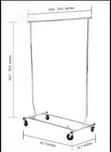 Rolling rack, collapsible. Rack roulant pliable