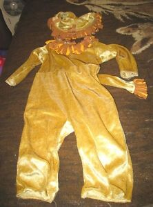 Infant Baby 12-18 Months simple Lion Costume 2 Pc Jumpsuit & Hat