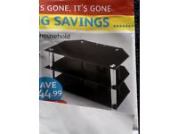 WHAT A BARGAIN GLASS TV STAND