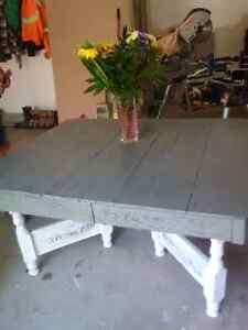 Antique Wooden Table Painted