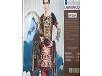 Gul Ahmed Pakistani/Indian Designer Lawn Suit / Shalwar Kameez