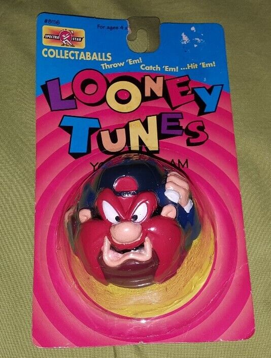 Looney Tunes Collectaballs Yosemite Sam Ball Madball Toy 1995 Spectra Star