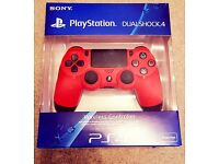 PS4 Dual Shock 4 Controller, Red - Brand New
