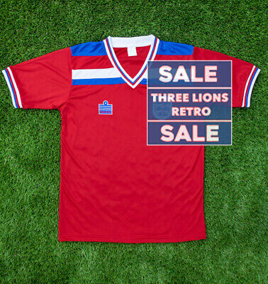 SALE | England Football Shirt | Retro | Away Shirt | Red | Short Sleeve | 1982