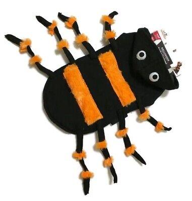 Pug Puppy Halloween Costumes (Halloween Costume Scary Spider Clothing Fur Headpiece Fangs Eyeball Pup Dog)