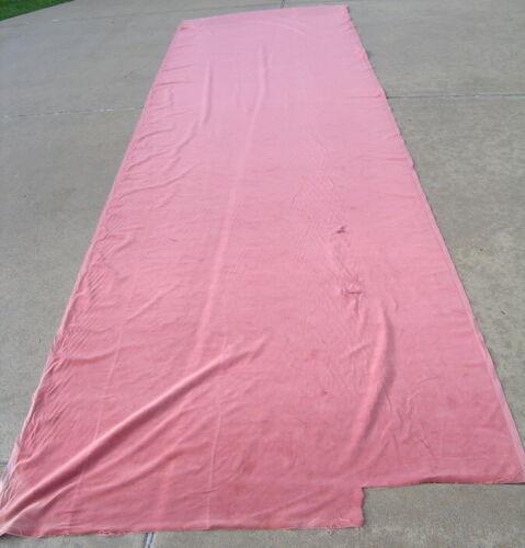 "Antique Pink Lite Melon Millinery Heavier Stock Cotton & Silk Velvet 56x174"" S&P"