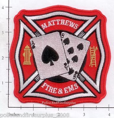 North Carolina - Matthews Fire & EMS NC Fire Dept Patch