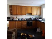 Real oak solid wood kitchen doors and carcus