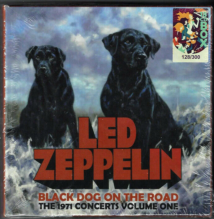 LED ZEPPELIN BLACK DOG ON THE ROAD THE 1971 CONCERTS VOLUME ONE BOX SET  - $180.00