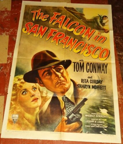 FALCON IN SAN FRANCISCO orig 1945 1sheet Tom CONWAY Rita CORDAY check this out