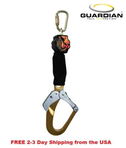 Guardian Fall Protection 11018 Diablo Single Self Retracting Lifeline Rebar Hook
