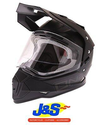 O'Neal Sierra 2 Adventure Motocross Helmet MX Quad Dual Sports Matt Black J&S