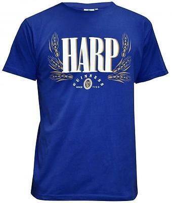 Guinness Label (Guinness Harp Blue Label Tee shirt Mens Cotton Irish Dublin Ireland Beer Shirt  )
