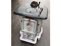 Vintage 1930/40's Jubilee Enamel Multifuel Stove Wood Burner With Back Boiler
