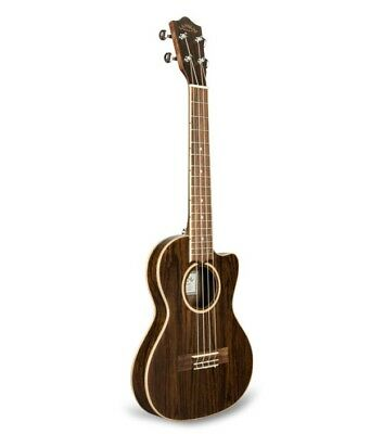 Lanikai Figured Bocote Thin Body Tenor Acoustic/Electric Ukulele +Bag +3-Day Air
