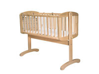 Mothercare Swinging Baby Crib with duvet sets and bundles