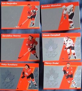 Nagano 98 Winter Olympic Team Canada hockey cards Shanahan, Cass