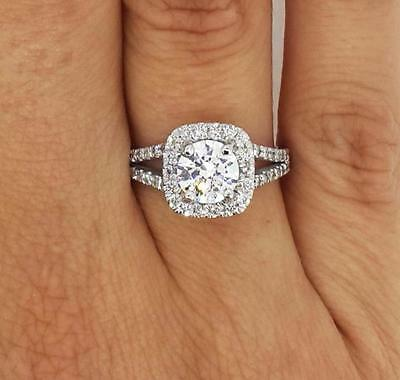 2.25 Ct Round Cut Diamond Engagement Ring VS1/F 14K White Gold