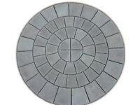 Charcoal Patio Paving Circle Feature Kit 2.56m
