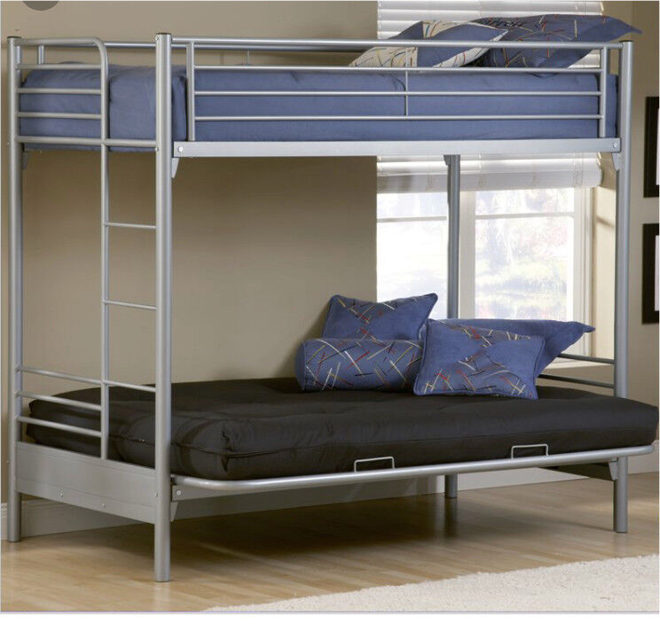 Awesome Metal Double Bunk Bed Futon High Sleeper In Exeter Devon Gumtree Bralicious Painted Fabric Chair Ideas Braliciousco