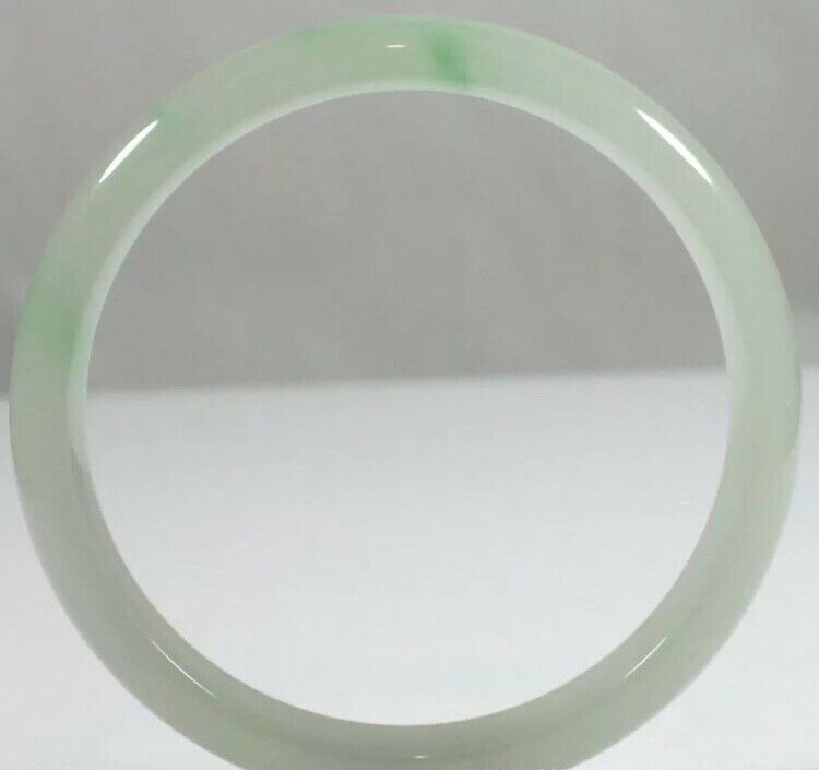 Antique Chinese white Green Jadeite Jade Bracelet Bangle