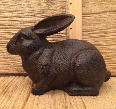Rabbit Bunny Cast Iron Rust Color 7 1/2