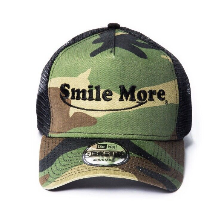 BRAND NEW Smile More hat camo camouflage unopened SEALED