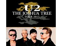 U2 tickets - 3 x standing - Sunday 9th July