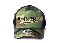 BRAND NEW SEALED Smile More hat camo camouflage
