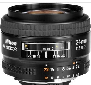 **Looking** Nikon 24mm F2.8D lens/wide angle