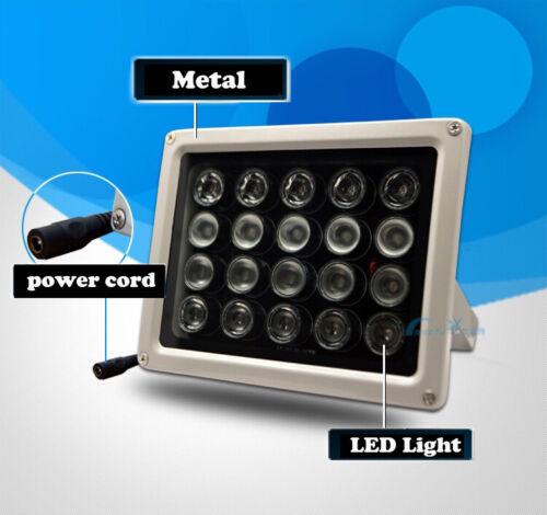 20 LEDs illuminator CCTV Infrared IR Light Night 100M 12V Blub Lamp illumination