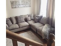 Beige and Grey Corner Sofa 1yr old Excellent Condition