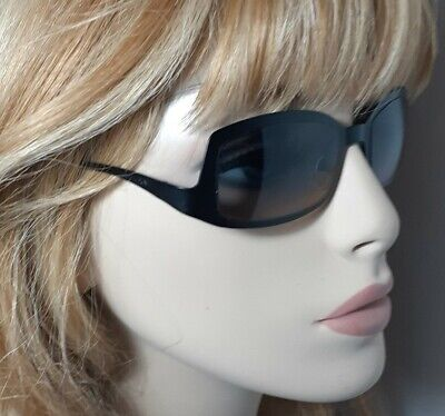 Vintage Chanel 4022 Black Retro Sunglasses & Versace hardshell Case