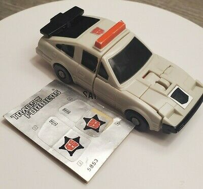 STREETWISE 1986 Transformers G1 PROTECTOBOT   with Sticker sheet