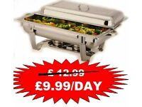 hire serving dishes for parties, buffet chafing dishes/chaffing dish at £9.99 per day